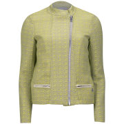 Maison Scotch Women's Short Jacquard Jacket - Yellow