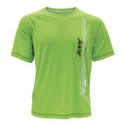 Zoot Men's Ultra Run Icefil Mesh Tee - Black/Green Flash