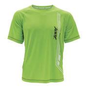 Zoot Men's Ultra Run Icefil Mesh Tee - Black/Green Flash
