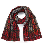 Marc by Marc Jacobs Women's Heart Snake Print Scarf - Red Multi