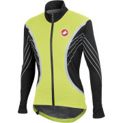 Castelli Misto Pocketable Stretch Rain Jacket - Yellow Fluo/Black