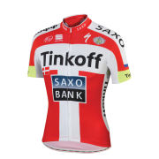 Tinkoff-Saxo Danish National Champion Short Sleeve Jersey - Red