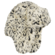 Snow Leopard Faux Fur Trapper Hat