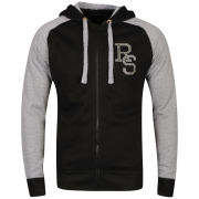 Ringspun Men's Major Hooded Sweat - Black / Grey Marl