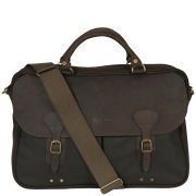 Barbour Men's Wax Leather Briefcase - Olive