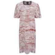 Christopher Raeburn Women's Silk Print T-Shirt Dress - White/Red/Grey