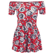 Influence Women's Floral Playsuit - Red