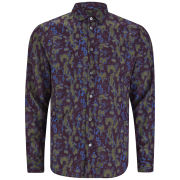 Marc by Marc Jacobs Men's Spike 100% Cotton Shirt - Mustard Green Multi