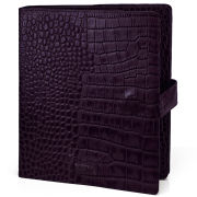 OSPREY LONDON The iPad Cover Polished Croc Leather - Purple
