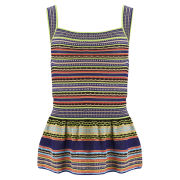 M Missoni Women's Knitted Peplum Top - Multi