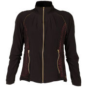 LIJA Women's Eyelet Run Jacket - Black