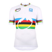 UCI Rainbow Fashion Line Short Sleeve Full Zip Jersey - Black/White