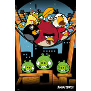Angry Birds On A Wire - Maxi Poster - 61 x 91.5cm