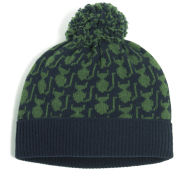 Orla Kiely Women's Kitten Fairisle Wool Hat - Green/Navy