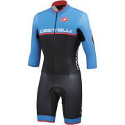 Castelli Cross Sanremo SpeedSuit - Black/Drive Blue