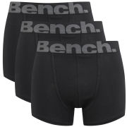 Bench Men's 3-Pack Large Logo Band Boxers - Black/Grey