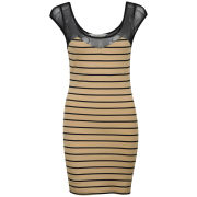 Chickster Women's Berkant Striped Dress - Nude