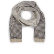 Hunter Women's Bird's Eye Scarf - Beige/Grey