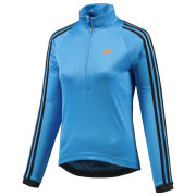 adidas Women's Response Long Sleeve Jersey - Solar Blue/Black