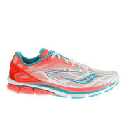 Saucony Women's Cortana 4 Neutral Running Shoes (Medium Width) - White/Pink/Blue