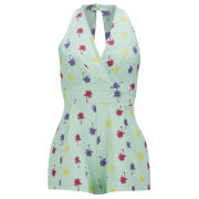 LOVE Women's Palm Print Playsuit - Multi