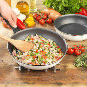 Gino D'Acampo 23cm and 27cm Twin Frying Pan Set - White