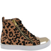 Jeffrey Campbell Women's Leopard Pony Hair High Tops - Leopard