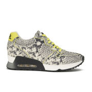 Ash Women's Love Leather Runner Trainers - Roccia/Yellow