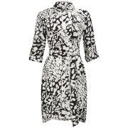 Diane von Furstenberg Women's Prita Silk Leopard Shirt Dress - Feather Leopard
