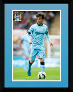 Manchester City Silva 14/15 - 8x6 Framed Photographic