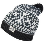 Tokyo Laundry Men's Penda Bobble Hat - Charcoal/Egg Shell/Green Gables