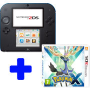 Nintendo 2DS Black & Blue: Bundle includes Pokemon X