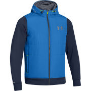 Under Armour Men's Cold Gear Storm Survivor Hybrid Jacket - Scatter/Academy/Tan Stone