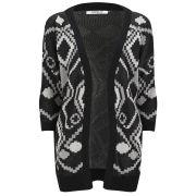 ONLY Women's Desert Long Knitted Cardigan - Whisper White