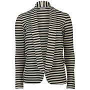 Love Sole Women's Boyfriend Striped Blazer - Black/White