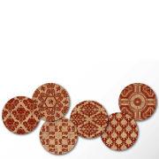 Cork Coasters - Classic Demask