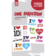 One Direction I Love - Tattoo Pack