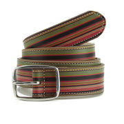 Paul Smith Accessories Men's Wide Vintage Multi Stripe Belt