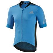 adidas Supernova Short Sleeve Jersey - Solar Blue/Black - L - Slight Pull in Jersey