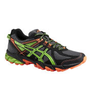 Asics Men's Gel Sonoma Trail Running Shoes - Onyx/Flash Green/Flash Orange