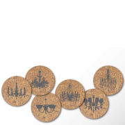 Cork Coasters - Elegance Above