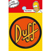 The Simpsons Duff - Vinyl Sticker - 10 x 15cm
