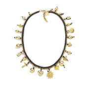 Venessa Arizaga Women's Lolita Necklace - Black/Gold