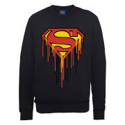 DC Comics Sweatshirt - Superman Drip Logo - Black