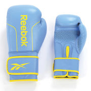 Reebok Leather Boxing Gloves - 8oz Cyan