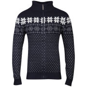 Brave Soul Men's Ricardo Zip Through Jumper - Dark Navy