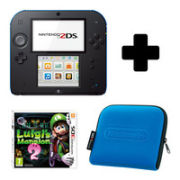 Nintendo 2DS Black & Blue: Bundle includes Luigis Mansion 2