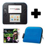 Nintendo 2DS Black & Blue: Bundle includes Luigis Mansion 2