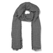 Maison Scotch Small Check Scarf - Black/White