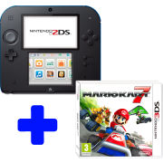 Nintendo 2DS Black & Blue: Bundle includes Mario Kart 7